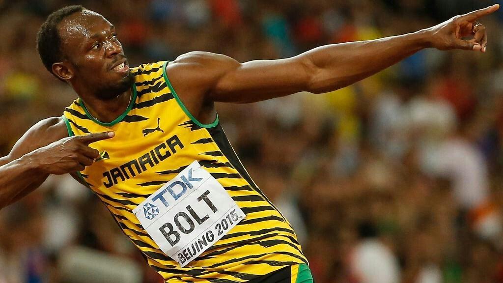 Usain Bolt au Borussia Dortmund en mars 29