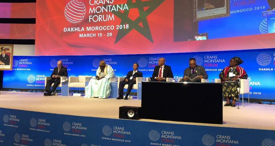 Participation de l'ancien Président Michel Joseph Martelly au Forum de Crans Montana au Maroc 29