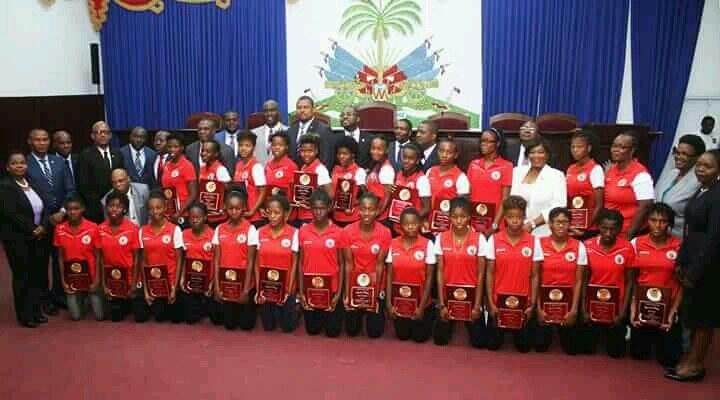 Haïti/Football féminin : La chambre basse a honoré les footballeuses U-20 28