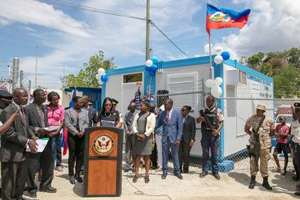 Les Etats-Unis se joignent à la Police Nationale d'Haïti pour l'inauguration du sous-commissariat de police de Diegue 31