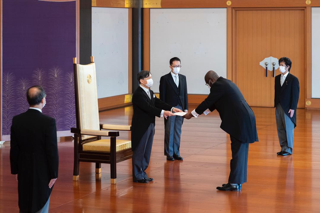 Le nouvel ambassadeur d'Haïti a remis ses lettres de créance à l'Empereur du Japon