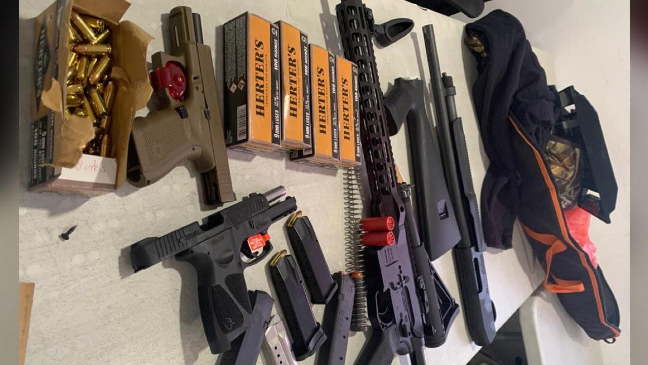 Saisie d'armes et de munitions à Drouillard
