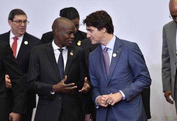 Jovenel Moïse et le Premier ministre du Canada, Justin Trudeau, en 2018.