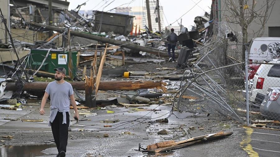 États-Unis: violentes tornades dans le Tennessee