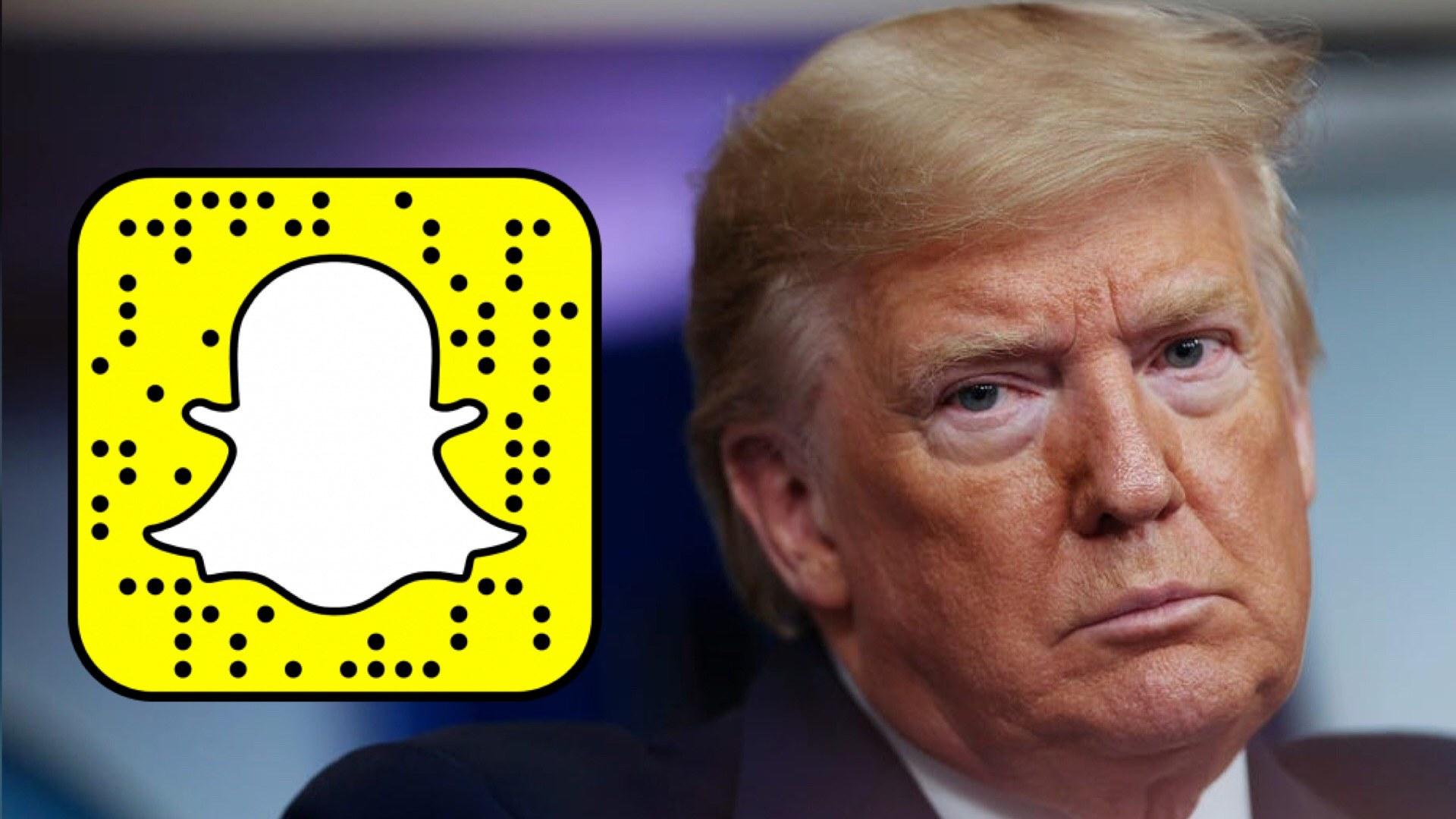 Snapchat ne fera plus la promotion des publications du président américain