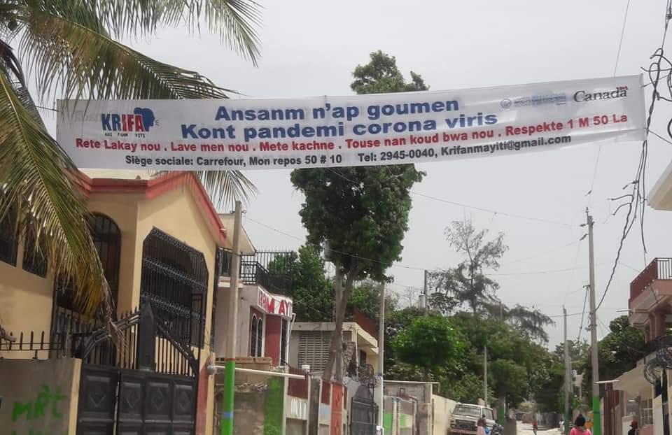 KRI FANM AYITI (KRIFA) lance une semaine de sensibilisation contre la Covid-19