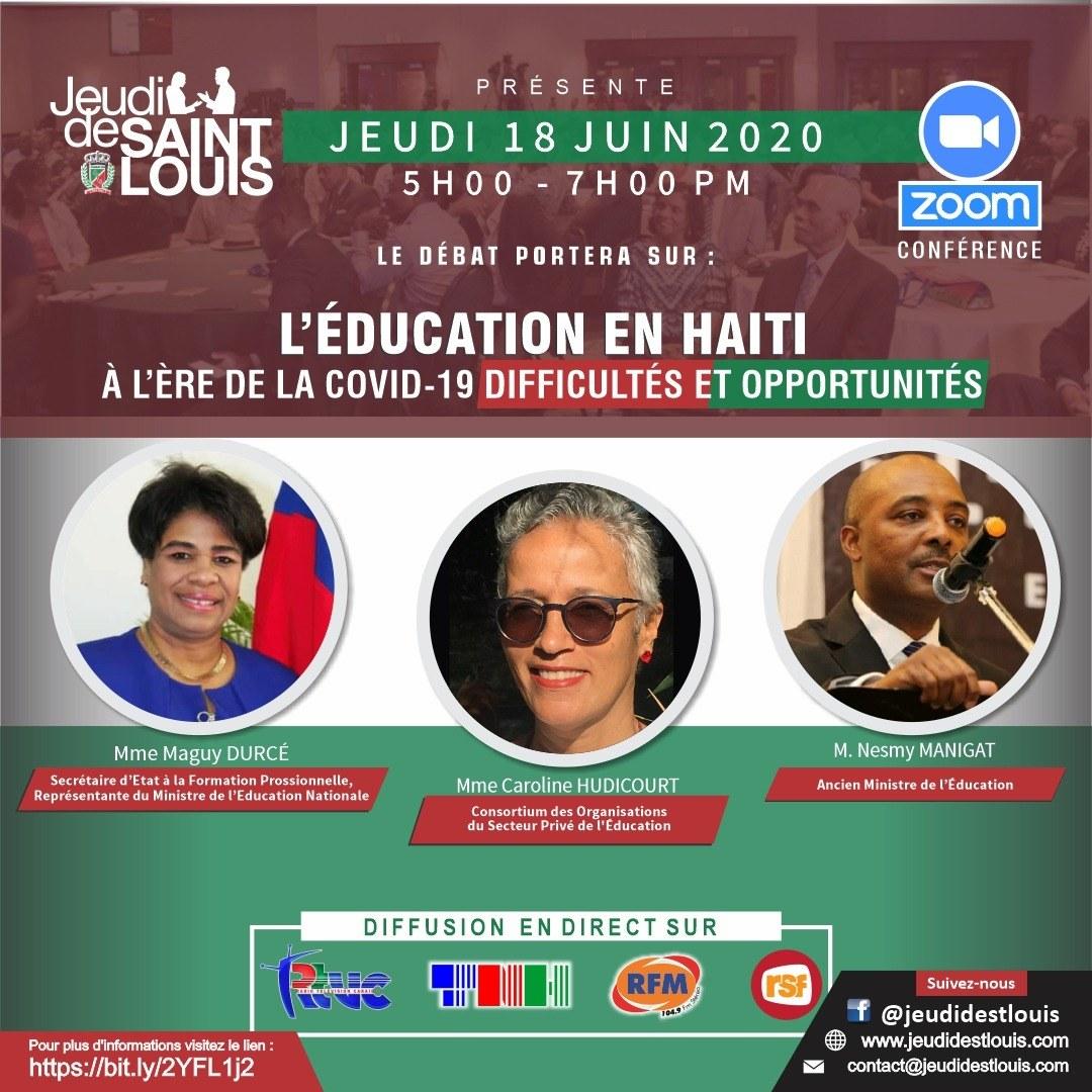 Jeudi de Saint Louis propose un regard sur l'éducation post Covid-19