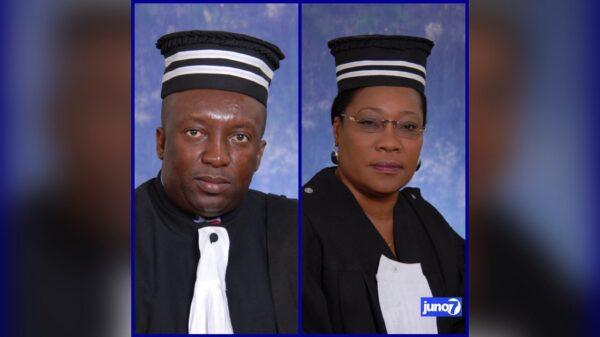 Me Rogavil Boisguéné réélu à la présidence de la CSC/CA, Me Marie France H. Mondésir, est la vice-présidente