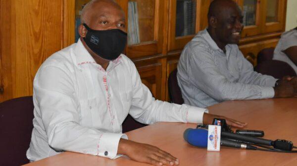 Visite de solidarité de Éric Jean-Baptiste au bureau du RNDDH