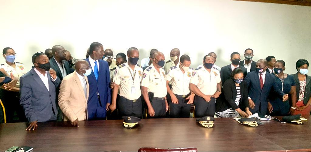Installation du nouveau DCA de la PNH et du directeur de l'académie nationale de police