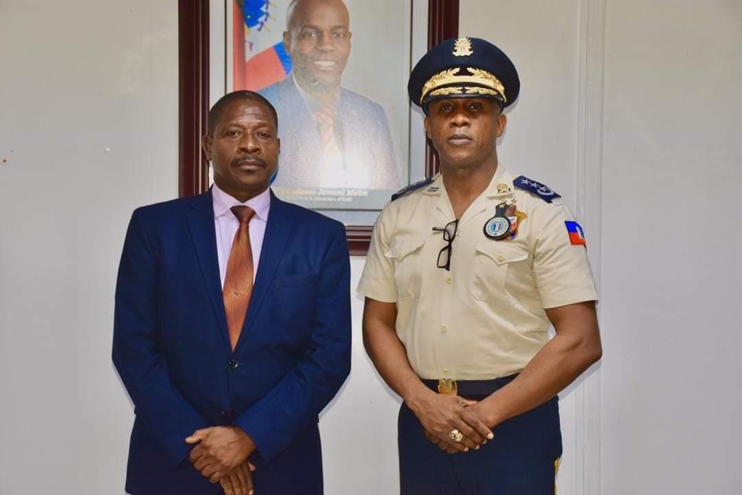 Le nouveau ministre de la Justice rencontre le DG de la PNH Rameau Normil
