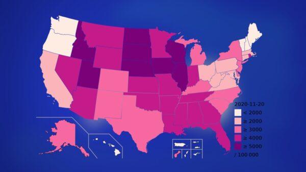 COVID-19 : 11.8 millions de cas aux États-Unis et près de 255 000 morts