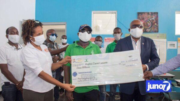 Haïti-Covid19: Eric Jean Baptiste a donné 2 millions de Gdes à l'Hôpital Universitaire de Mirebalais