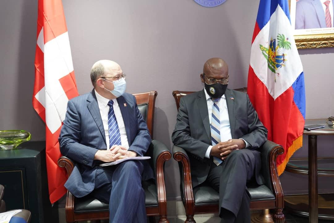 Joseph Jouthe rencontre les ambassadeurs de deux Etats membres de l'Union européenne