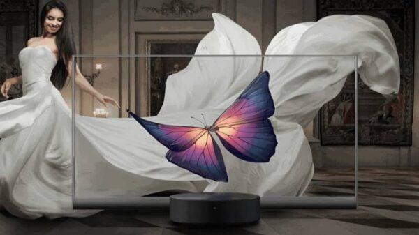 Un téléviseur transparent, la compagnie Xiaomi innove