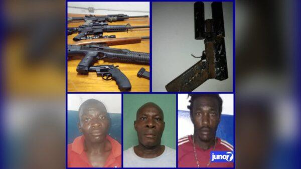 6 armes à feu saisies, 3 personnes arrêtées dont une en RD