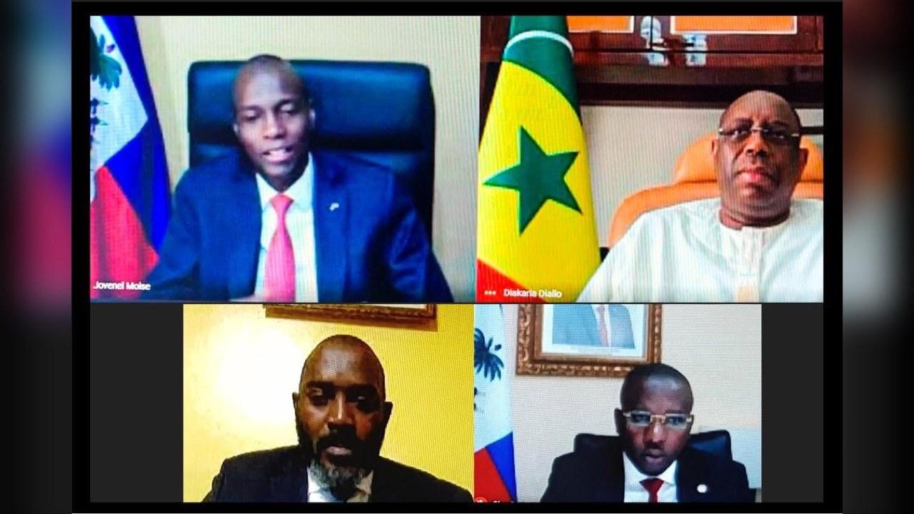 Le Président Jovenel Moïse s'est entretenu avec le Président du Sénégal