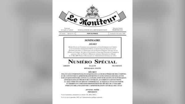 Jovenel Moïse prend un décret pour rendre non-imposable l'avis de la Cour Supérieure des Comptes sur les contrats