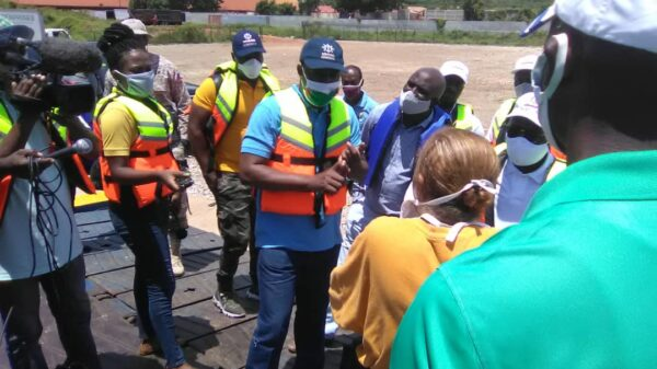 Visite d'inspection d'Eric Junior Prévost au Port du Cap-Haïtien