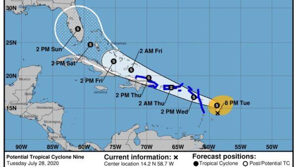 """La tempête tropicale """"Nine""""pourrait frapper l'île d'Haïti jeudi"""