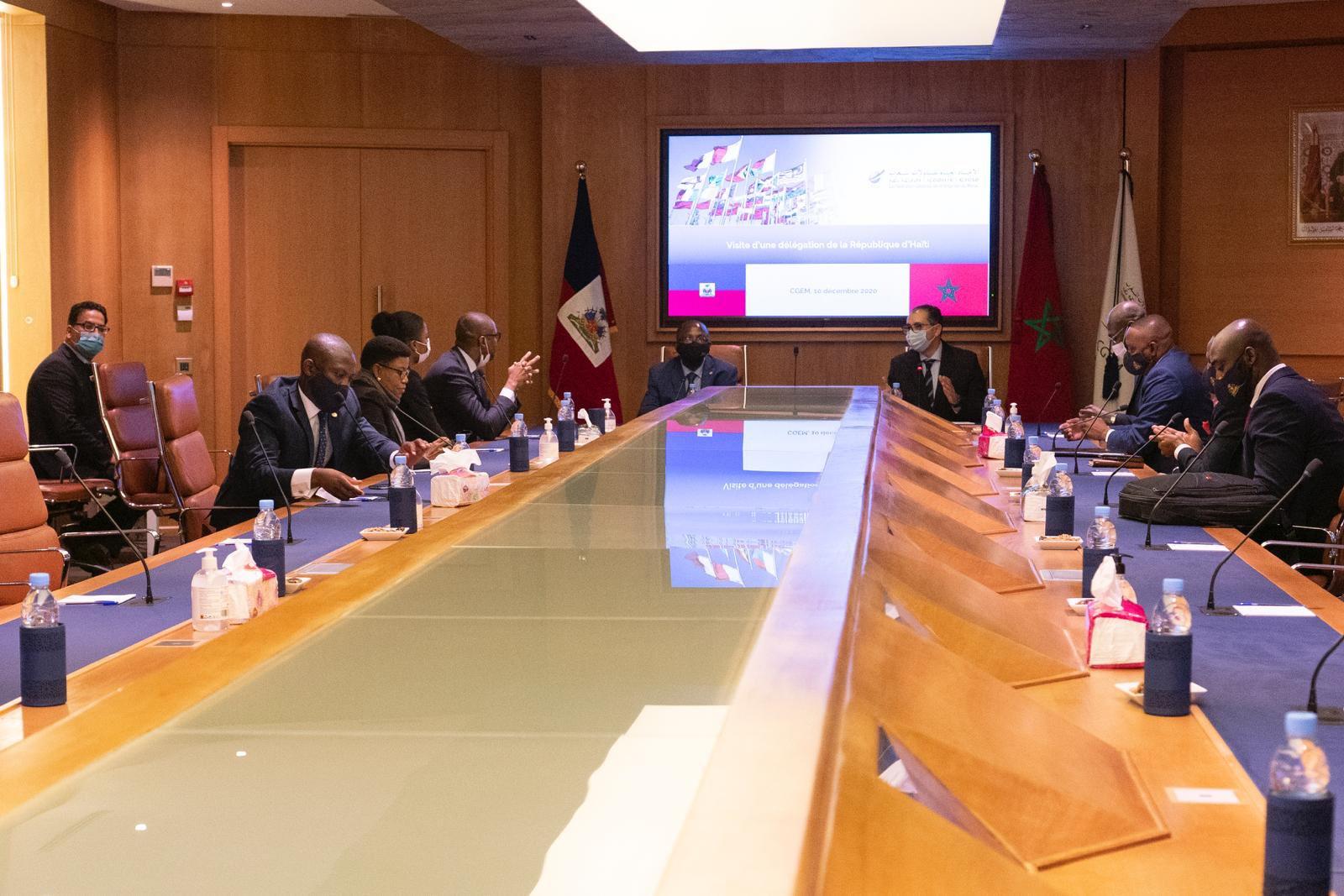 Claude Joseph en visite officielle au Maroc