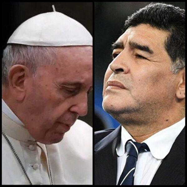 Le Pape François prie pour Maradona