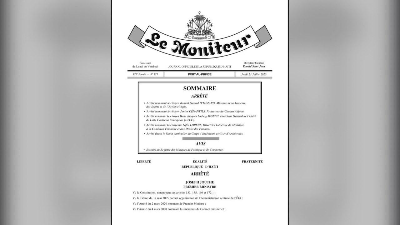 L'administration Moïse/Jouthe enchaîne avec les nominations