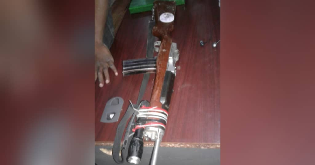 Gonaïves: deux agents de l'UDMO blessés et un fusil de calibre 223 saisi