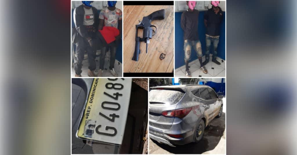 PNH: 4 individus arrêtés, 1 véhicule intercepté et 1 revolver saisi à Ouanaminthe