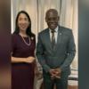 Michele Sison a rencontré le Premier ministre Joseph Jouthe