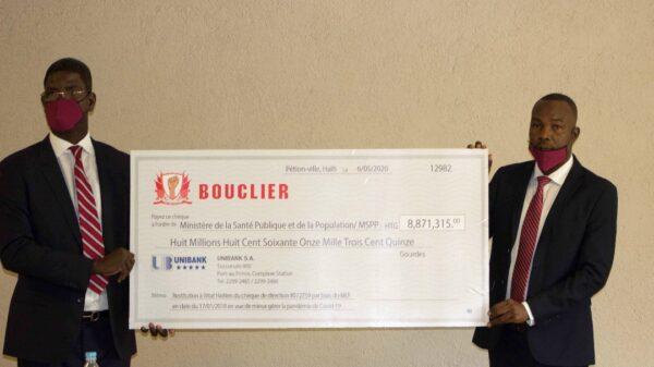 Bouclier donne 8 millions de gourdes à l'Etat haïtien