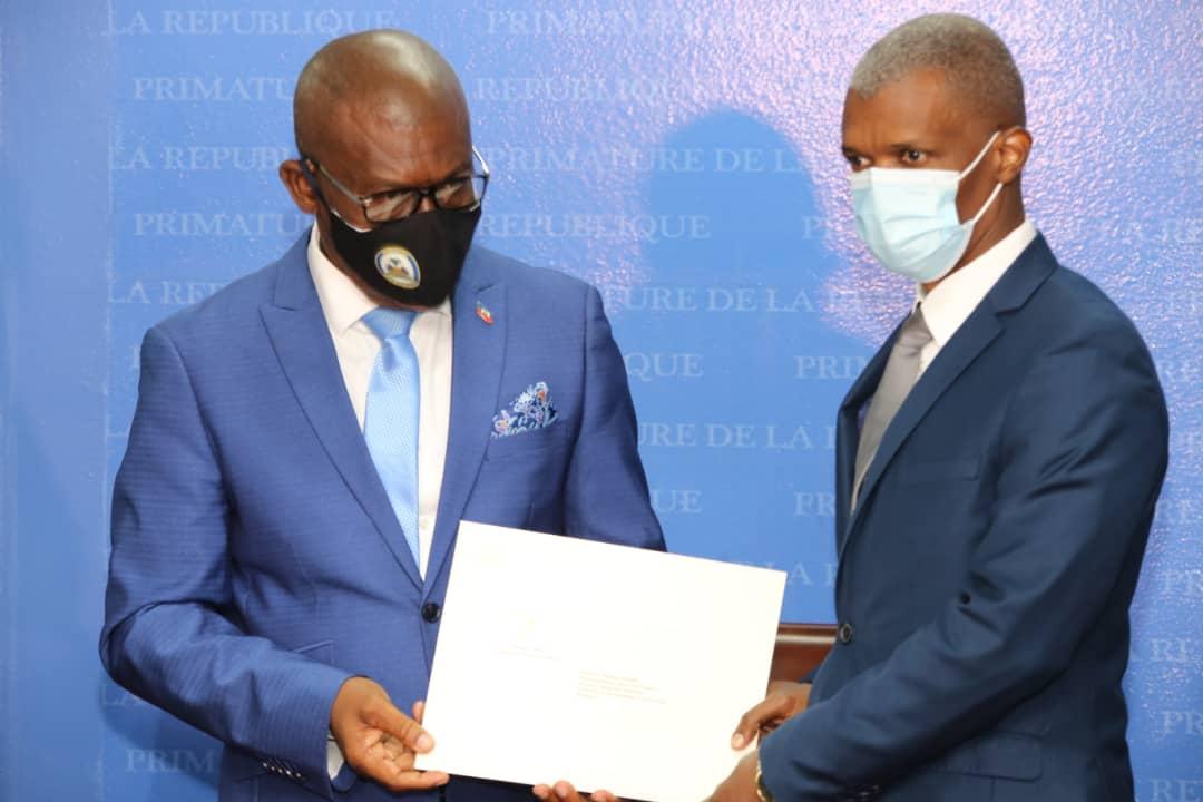 Mathias Pierre installé comme ministre chargé des questions électorales