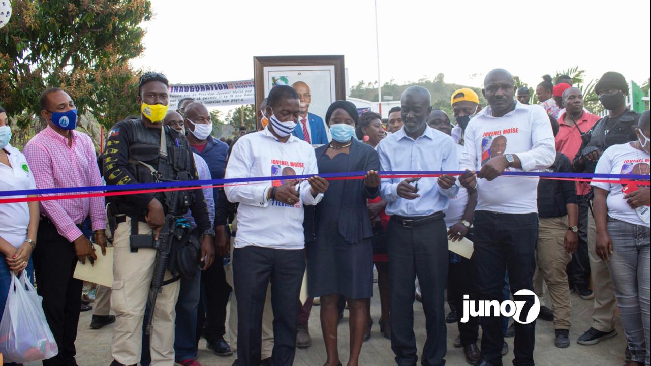 Le BMPAD Inaugure la place publique Saint Sylvestre à Mombin Crochu
