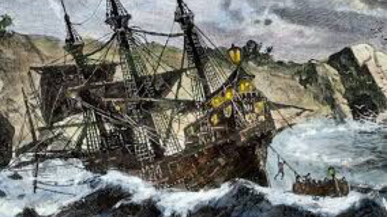 24 Décembre 1492 : naufrage de la Santa Maria au large du Cap.