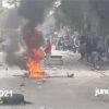 Kidnaping: protestation à la Rue Cameau pour exiger la libération d'un cadre du collège Coeurs-Unis
