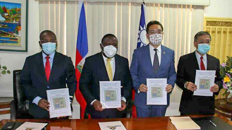 Un accord pour la construction d'un lycée à Quartier-Morin signé entre Taïwan et Haïti