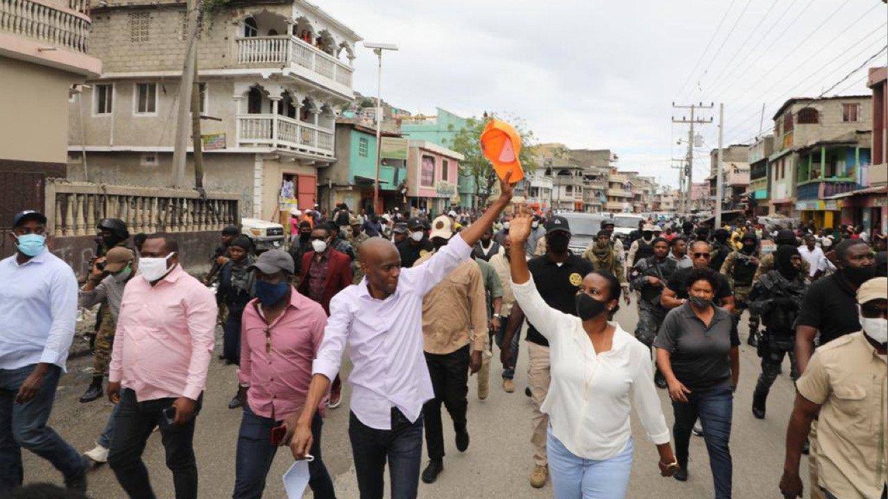 Jovenel Moïse en visite au Cap-Haïtien pour annoncer la matérialisation du courant électrique 24/24