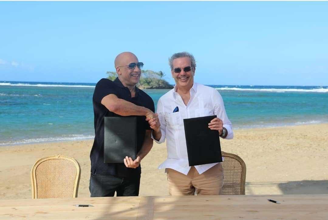 Luis Abinader s'associe à Vin Diesel pour promouvoir le cinéma et le tourisme en Republique Dominicaine