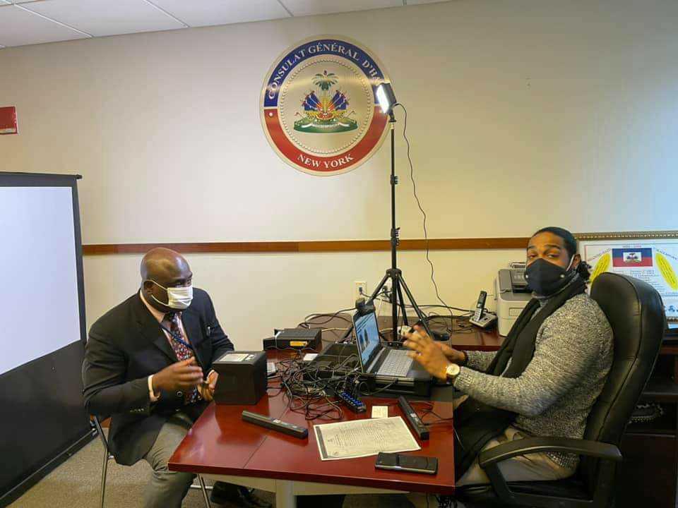 Système d'enregistrement d'identité tout est prêt au consulat d'Haïti à New York
