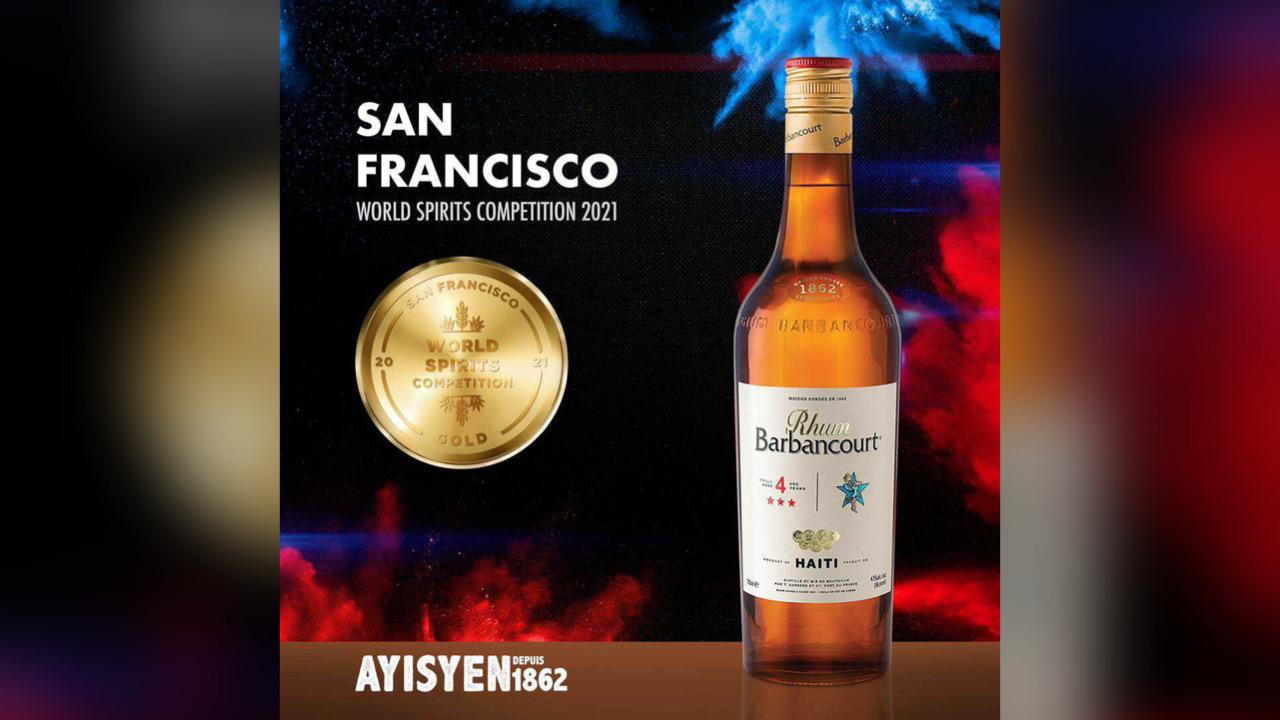 Le Rhum Barbancourt remporte trois médailles à la prestigieuse compétition de la San Francisco World Spirits