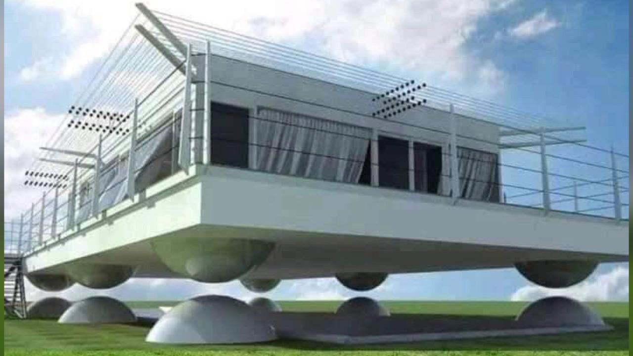 Les Japonais ont créé une technologie qui permet aux maisons de se lever au dessus du sol en cas de séisme