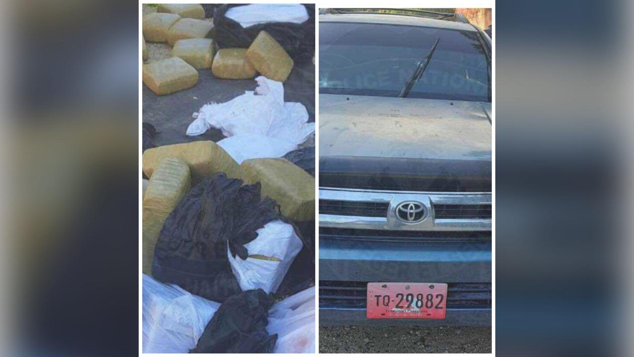 Deux véhicules et plus de 2,000 kg de marijuana confisqués par la PNH