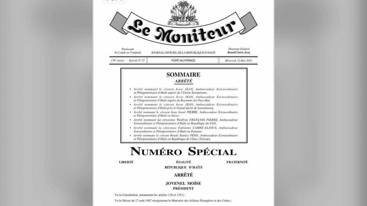 Nouvelles nominations au niveau de la diplomatie haïtienne