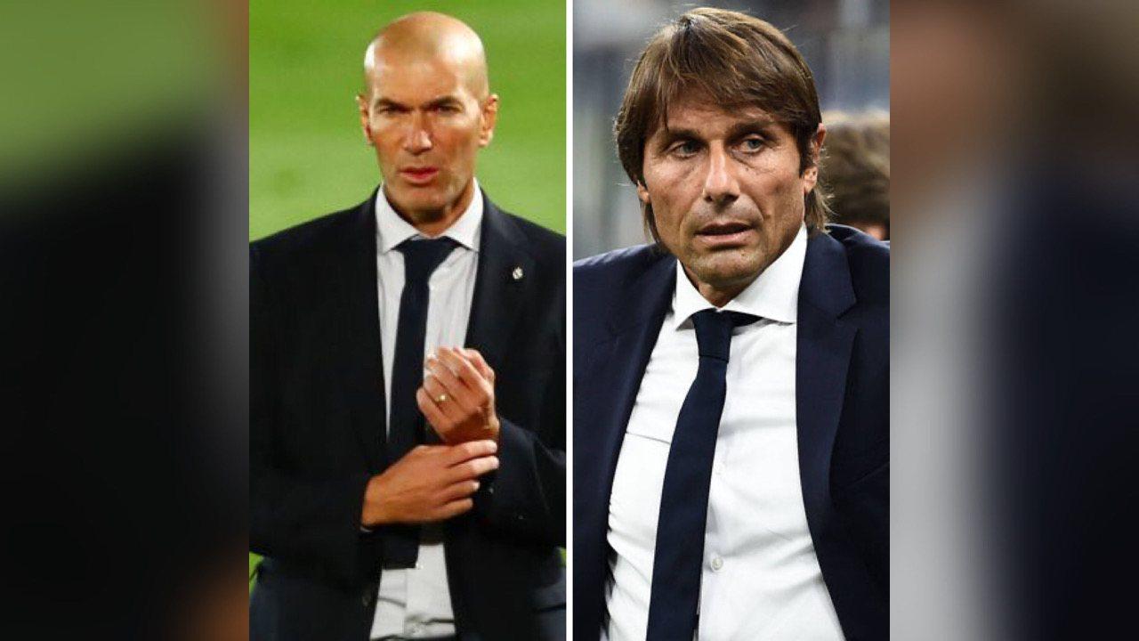Les entraîneurs Zidane et Conte quittent leur club respectif