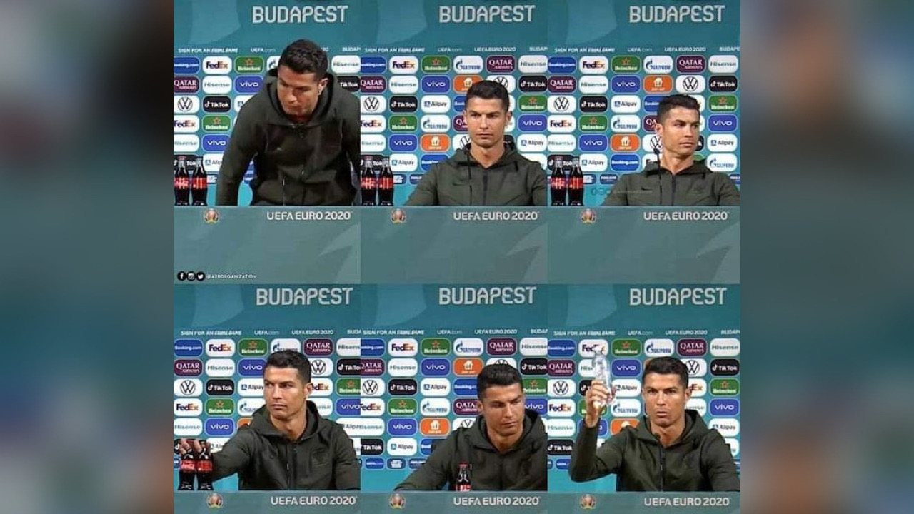 Cristiano Ronaldo a fait perdre 4 milliards de dollars à Coca-Cola