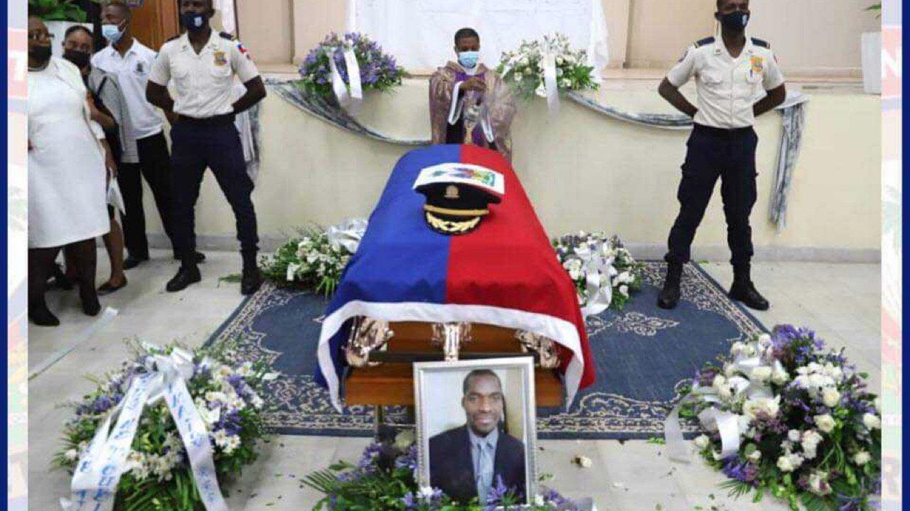 Funérailles de l'inspecteur Myradel ADOLPHE, Léon Charles promet d'arrêter les coupables