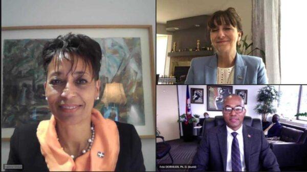 Rencontre virtuelle entre le consul général d'Haïti à Montréal et deux Ministres québécois