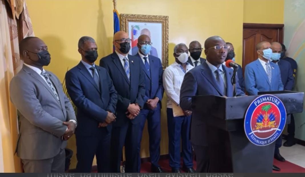 Les membres du comité d'organisation des funérailles nationales de Jovenel Moïse, présentés au public
