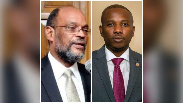 Passation de pouvoir entre Claude Joseph et Ariel Henry le nouveau premier ministre nommé