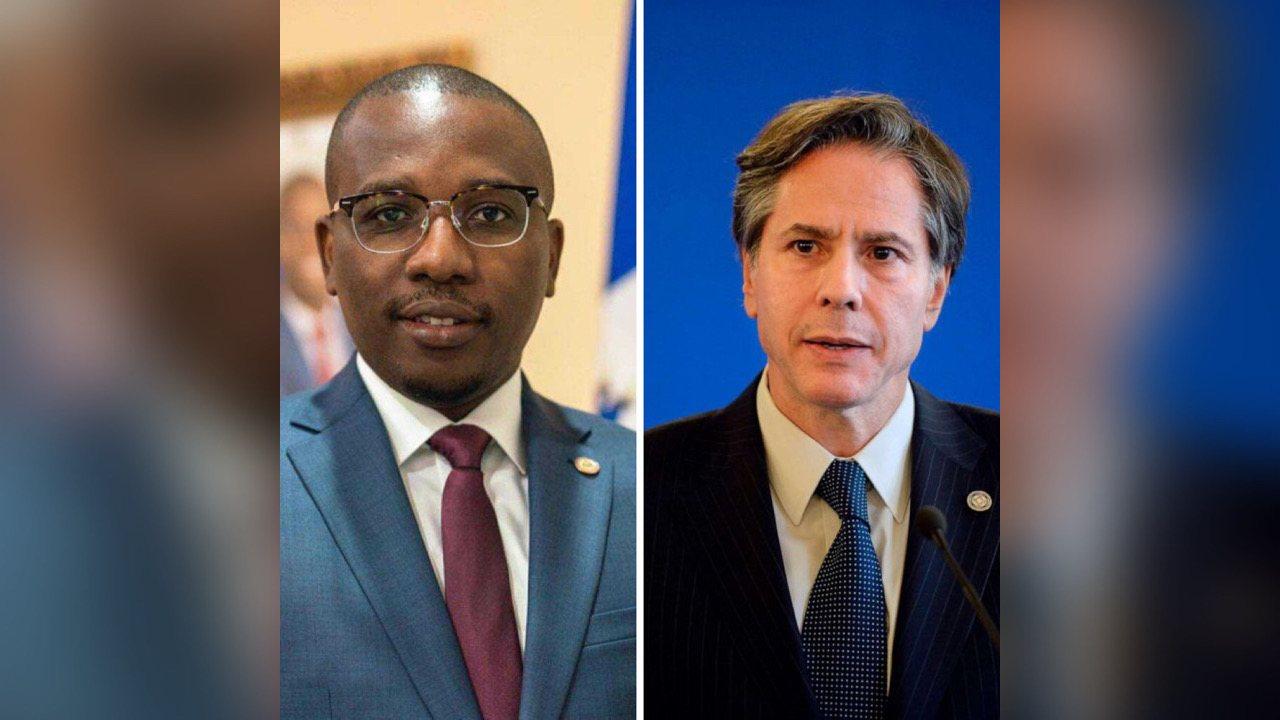 La démocratie, les élections et la sécurité au cœur de la discussion entre Claude Joseph et Antony Blinken
